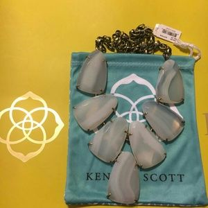 Kendra Scott White Agate Harlow Necklace
